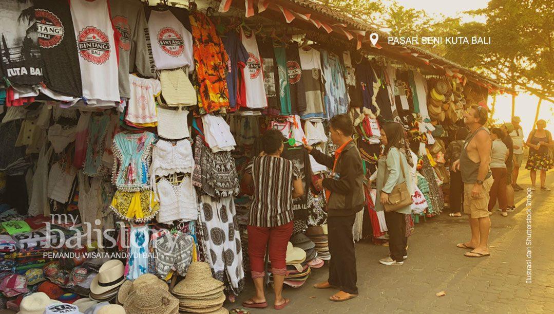Pasar Seni Kuta Tempat Belanja Oleh-oleh Di Kuta Bali