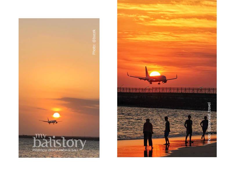 melihat sunset di Pantai Kelan